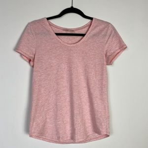 Loft Factory Peach Speckled Scoop Neck Tee - XS